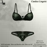DE Designs - Candice Lingerie - Green