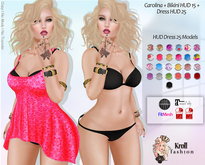 ::KF - Carolina Dress HUD 25 Models + Bikini HUD 15 Models ::