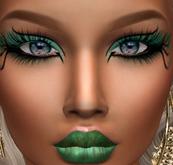 .:H.F Tonya  Green Fantasy Make up (Catwa Applier)