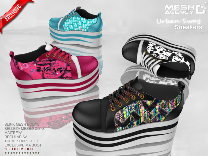 ::MA:: URBAN SWAG - Wedge Sneakers - 50 COLOR PACK
