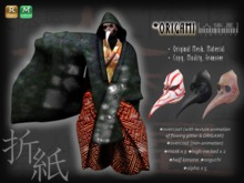 ORIGAMI ★ Overcoat with Glitter Animetion / Masks / Kimono