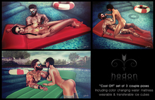 [Hedon] poses {Cool Off} Couple Pose Including color changing water mattress & ice cubes (wearable and giveaway)