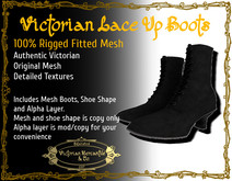 Victorian lace up boots - boxed