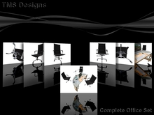 TMS Contemporary Desk, Computer, Chair and Lamp (Boxed)