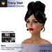 A&A Tracy Hair Vampire Colors Pack.  Resizable mesh womens updo hairstyle