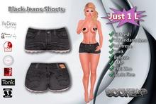 .:$oCheap:. Black jeans Shorts -- Gift -- 1 L