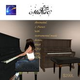 2 Mesh scripted & animated Pianos black & brown(crate)