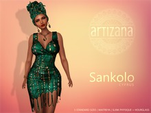 Artizana - Sankolo (Cyprus) - Mesh Dress + Headwrap
