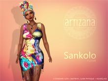 Artizana - Sankolo (Fleur) - Mesh Dress + Headwrap