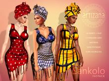 Artizana - Sankolo Collection - Mesh Dress + Headwrap