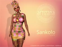 Artizana - Sankolo (Kente) - Mesh Dress + Headwrap