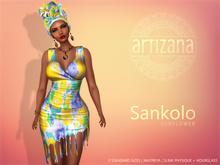 Artizana - Sankolo (Sunflower) - Mesh Dress + Headwrap