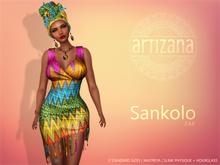 Artizana - Sankolo (Zap) - Mesh Dress + Headwrap