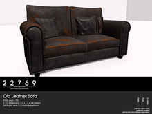 22769 ~ [bauwerk] Old Leather Sofa Worn -PG