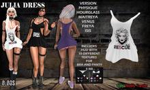 B BOS -Julia Dress-White Re5cue-