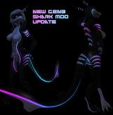 [Fessy's] BENTO UNISEX Dazzle shark neon mod 2.0 & GEN3(1.0c) (PINK BLUE)