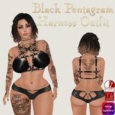 ::Love Lace:: Black Pentagram Harness (Slink & Omega)