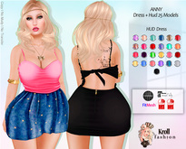 ::KF - Anny FitMesh Dress + HUD  25 Models ::