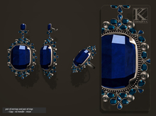 (Kunglers) Aphrodite earrings and ring - Sapphire