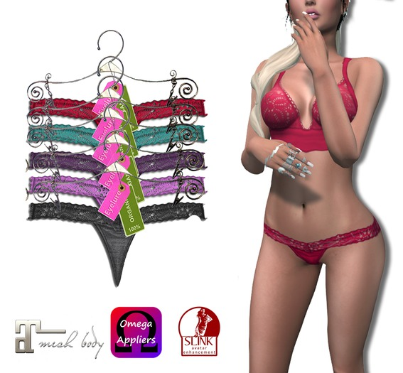Eyelure Satin Panties 5 Pack    Appliers Maitreya,Slink,Omega