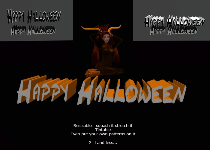 Happy Halloween Mesh Sign