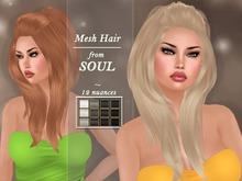 !SOUL - HAIR - Lulu - 12 Nuances - BLACK/ WHITE/ GREY