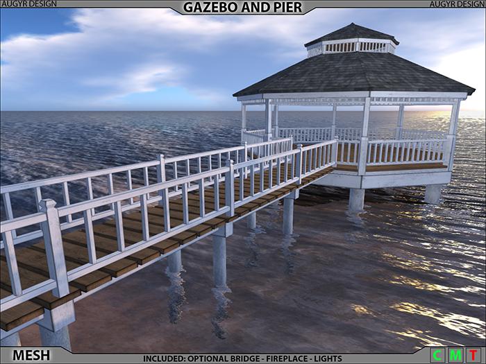 Gazebo And Pier [AUGYR DESIGN] [MESH]