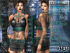 Bella Moda: Mezzanotte Midnight Black & Teal Outfit - Fitted for Maitreya/Physique/Classic + 5x Std Sizes - FULL