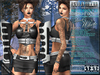 Bella Moda: Mezzanotte Midnight Black & White Outfit - Fitted for Maitreya/Physique/Classic + 5x Std Sizes - FULL