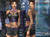 Bella Moda: Mezzanotte Midnight Black & Violet Outfit - Fitted for Maitreya/Physique/Classic + 5x Std Sizes - FULL