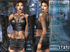 Bella Moda: Mezzanotte Midnight Black Outfit - Fitted for Maitreya/Physique/Classic + 5x Std Sizes - FULL