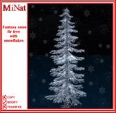 MiNat Fantasy snow fir tree with snowflakes