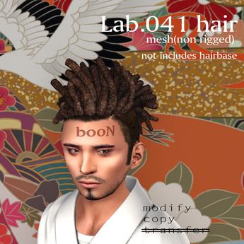 *booN Lab.041 hair black pack