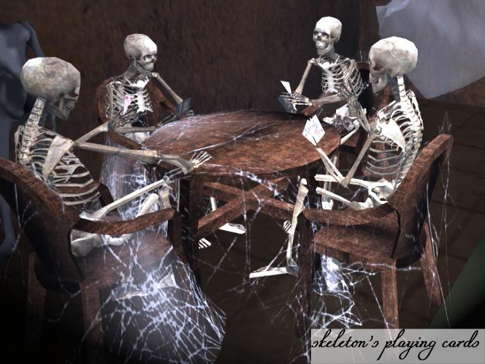 !Imaginarium's Halloween Skeleton's playing cards (boxed)