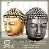 *6DOO* Great Buddha Head Decor