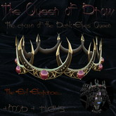 """Crown """"The Queen of Drow""""  for Drow (dark evil elves) fantasy, role play, gothic"""