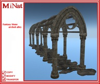 MiNat Fantasy Stone arched alley