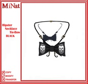 MN Hipster Necklace Tie-Bow BLACK