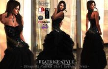 """BeatriceStyle"" - Strapless Ruffled Skirt Evening Dress"