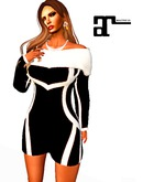 XK Maitreya Retro Piping Dress Black