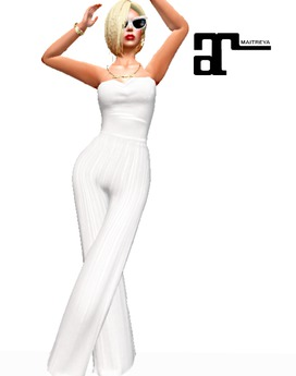 XK Maitreya Bustier Jumpsuit White