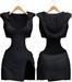 Blueberry - Nova Hoodie Dress - Maitreya, Belleza (All), Slink Physique Hourglass - ( Mesh ) Black