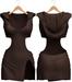 Blueberry - Nova Hoodie Dress - Maitreya, Belleza (All), Slink Physique Hourglass - ( Mesh ) Brown