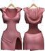 Blueberry - Nova Hoodie Dress - Maitreya, Belleza (All), Slink Physique Hourglass - ( Mesh ) Pixie