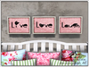 Live, Love, Laugh Wall Art (Pink)