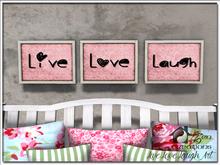 Live, Love, Laugh Wall Art (Pink)