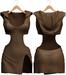 Blueberry - Nova Hoodie Dress - Maitreya, Belleza (All), Slink Physique Hourglass - ( Mesh ) Tan