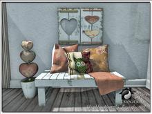 Shabby Hearts Bench Set