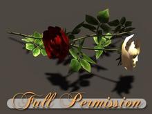 ~AB~ Single Roses ~ Full Perm Mesh Plant ~ 1 LI