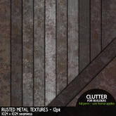 Clutter - Rusted Metal Textures - 12PK